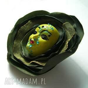 broszka broszki zielone z kolekcji masquerade
