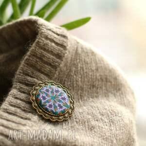 handmade broszki broszka z mandalą