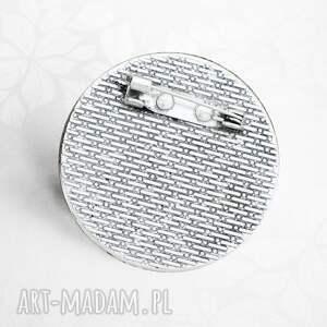 srebrne broszki szkło broszka z witrażową grafiką ::