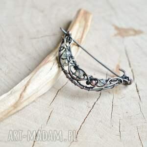 handmade broszki broszka do szala crystal moon