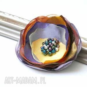 broszki kwiatek elegancka broszka wykonana