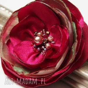 broszki elegancka broszka kwiatek przypinka