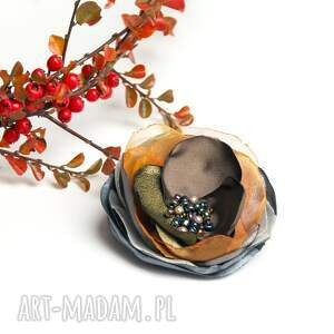 broszki broszka jesienna kwiatek, modna