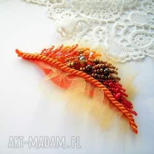 Samantha broszki: Jesienny liść - broszka - Hand Made