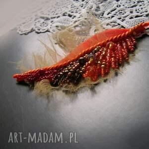 broszka broszki pomarańczowe jesienny liść