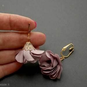 ręcznie wykonane broszki kwiat klipsy z kwiatkami