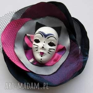 handmade broszki kot koteczek - broszka z kolekcji