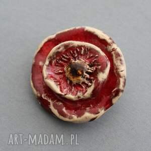 pomysł na prezent święta kwiat broszka ceramiczna