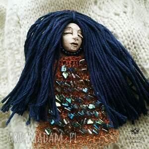 laleczka broszki niebieskie leśna nimfa