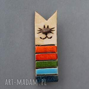 oryginalne broszki minimalizm miau-broszka ceramiczna