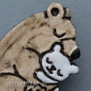 pomysł na prezent pod choinkę baby misiolki broszka ceramiczna