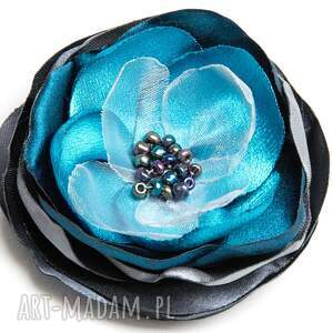 turkusowe broszki broszka modna przypinka kwiatek