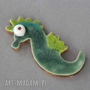 broszki: Morski dzikus - broszka ceramika - przypinka prezent
