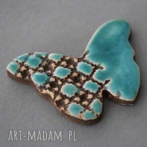 KOPALNIA CIEPLA Motyl broszka ceramiczna - upominek