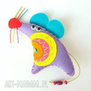 frapujące broszki filc mysz - broszka z filcu