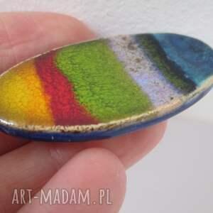 awangardowe broszki ceramiczna owalna energetyczna broszka