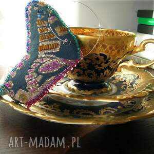 różowe broszki motyl papillo arcturus - broszka