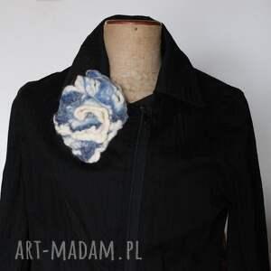 broszki broszka handmade filcowana na mokro