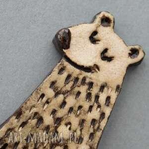 święta prezent skandynawski przytulas - broszka cermika