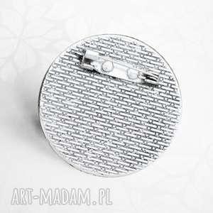 srebrne broszki natura romantyczna broszka