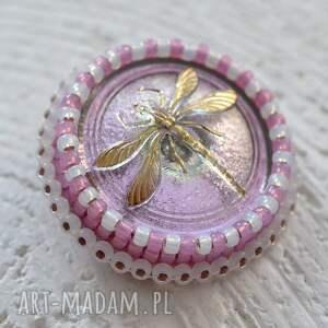 broszki haft shiny buttons::dragonfly