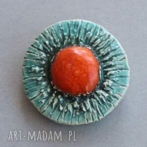 dodatek broszki pomarańczowe siłą-broszka ceramiczna