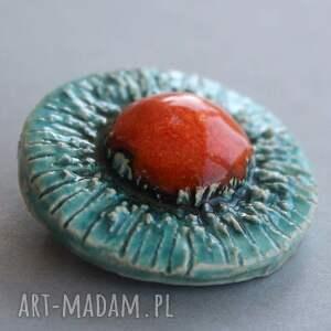 turkusowe broszki upominek siłą-broszka ceramiczna