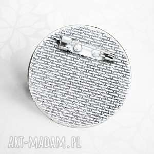 srebrne broszki pupil śmieszne pieski buldogi ::