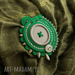 broszki soutache stylowa broszka wykonany techniką haftu
