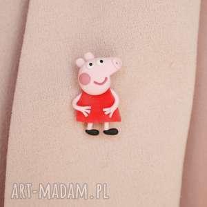 różowe broszki peppa-pig świnka peppa - broszka