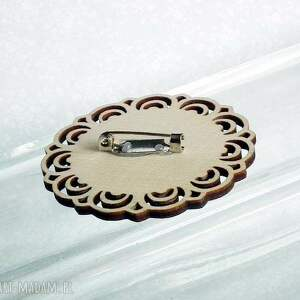 beżowe broszki turkus turkusowa mandala :: piękna ręcznie