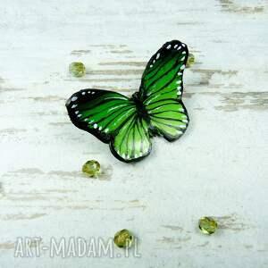 zielone broszki motyl wiosnenna broszka