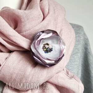 szare broszki broszka wyjątkowa kwiatek