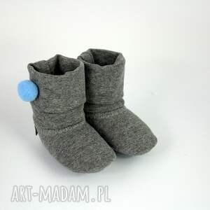 buciki babyshower bambosze / hand made niebieski