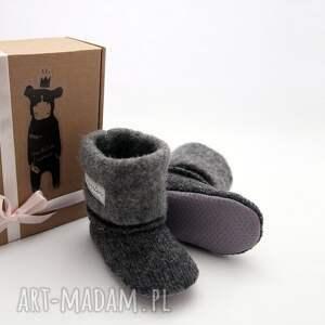 eleganckie buciki butki bambosze / hand made wełna