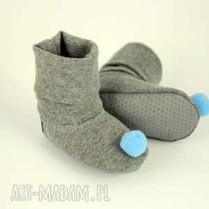 roczek buciki bambosze / hand made niebieski