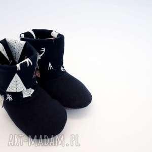 handmade buciki buty antypoślizgowe bambosze z golfem / hand made