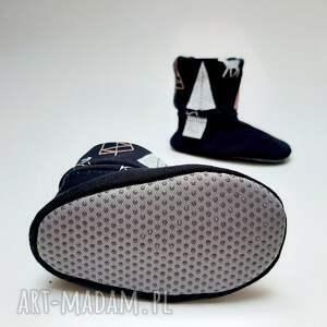 handmade buciki prezent dla dziecka bambosze z golfem / hand made
