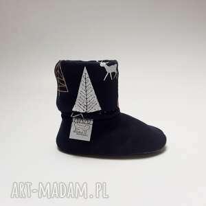 Bambosze z golfem / hand made jelonki II - papcie bawełniane miękkie buty
