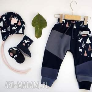 handmade buciki prezent-dla-dziecka bambosze z golfem / hand made