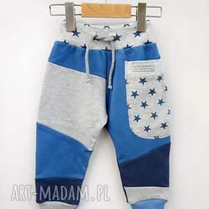 niebieskie buciki bawełniane oryginalne, wykonane ręcznie z przyjemnej