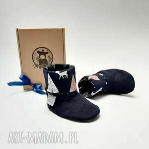 buciki prezent dla dziecka bambosze z golfem / hand made