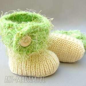ręcznie zrobione buciki botki
