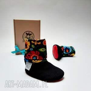 modne buciki prezent na roczek buty dla niemowlaka - folk