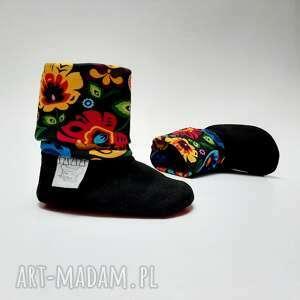 kolorowe buciki buty niemowlęce dla niemowlaka - folk