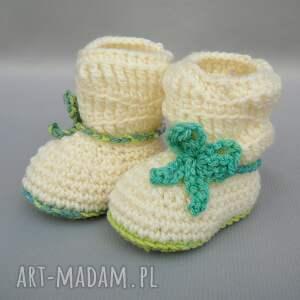 białe buciki botki kozaczki madison