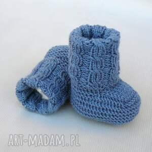 wyjątkowe buciki skarpetki newborn z warkoczem