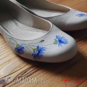 urokliwe buty kwiaty baleriny chabry
