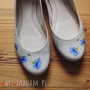 urokliwe buty malowane baleriny chabry