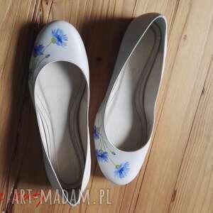 buty kwiaty baleriny chabry